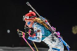 February 12, 2018 - Pyeongchang, Gangwon, South Korea - Marketa Davidova ofCzech Republic competing at Women's 10km Pursuit, Biathlon, at olympics at Alpensia biathlon stadium, Pyeongchang, South Korea. on February 12, 2018. (Credit Image: © Ulrik Pedersen/NurPhoto via ZUMA Press)