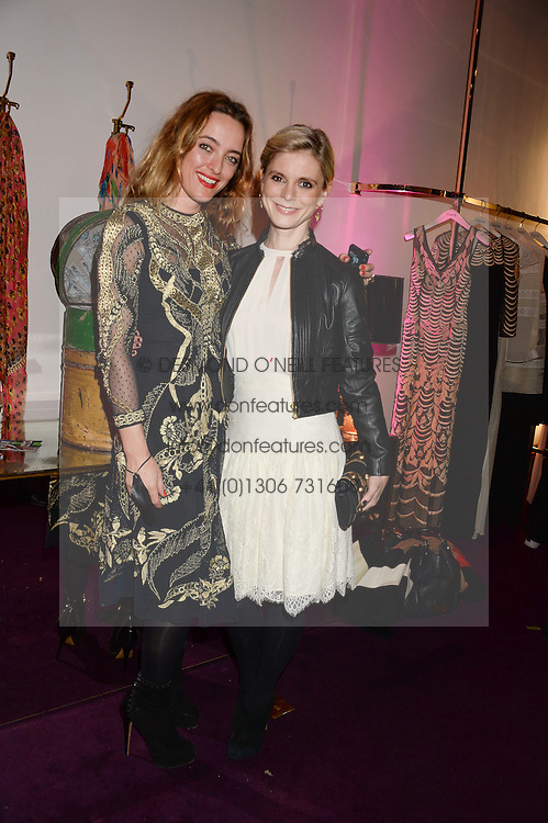 Left to right, ALICE TEMPERLEY and EMILIA FOX at the launch of Gordon's 'Ten Green Bottles' by Temperley London held at Temperley London Flagship, 27 Bruton Street, London on 6th November 2013.