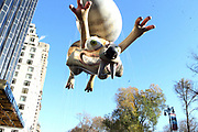 New York, NY-November 23: Ice Age Scat ballon attends the 91st Annual Macy's Thanksgiving Day Parade on November 23, 2017 held in New York City Credit: (Photo by Terrence Jennings/terrencejennings.com)
