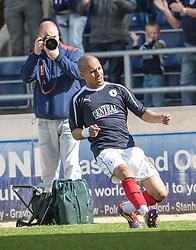 Falkirk's Farid El Alagui..Falkirk's Football Club's last game of season 2011-2012..Falkirk 3 v 2 Ayr United, 5/5/2012..©Michael Schofield..