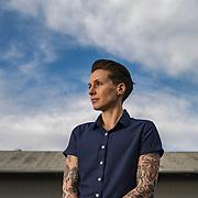 Renée Periat, owner of Androgynous Fox clothing, in San Luis Obispo, Calif.