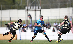 Blue Bulls captain Hanro Liebenberg attempts to get past Basil Short of Boland during the Currie Cup premier division match between the Boland Cavaliers and The Blue Bulls held at Boland Stadium, Wellington, South Africa on the 23rd September 2016<br /> <br /> Photo by:   Shaun Roy/ Real Time Images