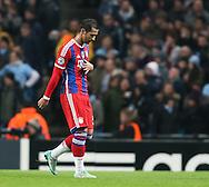 Mehdi Benatia of Bayern Munich is sent off  - UEFA Champions League group E - Manchester City vs Bayern Munich - Etihad Stadium - Manchester - England - 25rd November 2014  - Picture Simon Bellis/Sportimage
