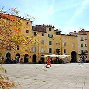 The round square at Lucca's old town