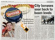 Spitfire Ale Bottle Top / The Sunday Times / November 2005