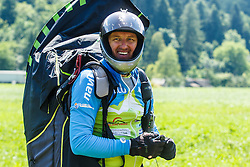 Jurij Vidic pilot for Slovenian national team during 16th paraglide competition Ratitovec Open 2016, Železniki, Porezen, on 10th of July in Slovenia. Photo by Grega Valancic / Sportida