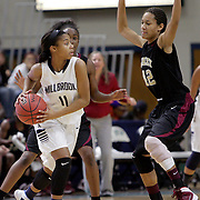 Ashley's Morgan Davis guards Millbrook's Dazia Powell during the championship game of the Leon Brogden Holiday Basketball Tournamnet. (Jason A. Frizzelle)