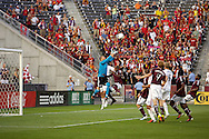 August 4, 2012: Colorado Rapids goalkeeper Matt Pickens (18) punched the ball away in the first half against Real Salt Lake at Dick's Sporting Goods Park in Denver, Colorado