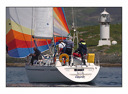 Racing at the Bell Lawrie Yachting Series in Tarbert Loch Fyne. Sunday racing was dominated by light winds...Boyd Tunnock's Moody 38 Lemerac 4040C.
