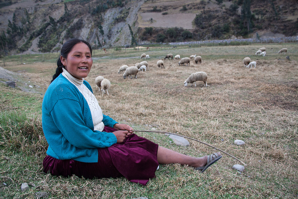 People in the village of Sunchubamba, a Quechua speaking native community in Southeastern Peru that is running a reforestation plot in the Andes near Cusco and the Interoceanic Highway.
