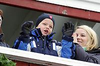 Hopp, 13. mars 2005, Verdenscup, Oslo, <br /> Ski-jumping, 13.03.05. Word Cup,<br />  Kronprinsesse Kronprinsesse Mette-Marit og Marius Borg Høiby