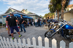 House party at Hawiian Bob's, one of many off that went on all week off Main Street during Daytona Bike Week's 75th Anniversary event. FL, USA. Saturday March 12, 2016.  Photography ©2016 Michael Lichter.