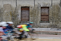 The peloton speed by at the 2020 Omloop Het Nieuwsblad - Elite Women, a 122.9 km road race from Gent to Ninove, Belgium on February 29, 2020. Photo by Sean Robinson/velofocus.com