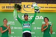 Podium, Hotess, Miss, Peter Sagan (SVK - Bora - Hansgrohe) during the 105th Tour de France 2018, Stage 11, Alberville - La Rosiere Espace Bernardo (108,5 km) on July 18th, 2018 - Photo Luca Bettini / BettiniPhoto / ProSportsImages / DPPI