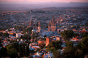 MEXICO, SAN MIGUEL ALLENDE overview with Parroquia Parish church