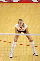 25 AUG 2007: Redbirds Mallory Leggett. By a score of 3 games to 1,  Illinois State University Redbirds defeated the Redhawks of Miami of Ohio at Redbird Arena on the campus of Illinois State University in Normal Illinois.