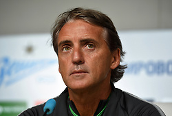 August 2, 2017 - St. Petersburg, Russia - Russia, St. Petersburg, on August 2, 2017. The head coach of F.C. Zenit Roberto Mancini on pre-match press conference, before match of the third qualification round of the UEFA Europa League between F.C. Zenit (St. Petersburg, Russia) and FC Bney-Iyeguda  (Credit Image: © Andrey Pronin via ZUMA Wire)