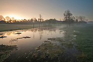 Dawn at the source of the River Test Overton, Hampshire