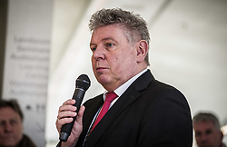 February 6, 2018 - Munich, Bavaria, Germany - Dieter Reiter, Oberbuergermeister (mayor) of Munich. The City of Munich, Germany dedicated the plaza adjacent to the National Socialism Documentation Center (NS-Dokumentationszentrum) building to Holocaust survivor Max Mannheimer.  Mannheimer was an author, painter, and prolific speaker about the experience.  He and his brother were the only family members to survive.  Mannheimer was born on Feb. 6, 1920 in Northern Moravia and died on Sept. 23, 2016.  Among the speakers were Munich City Mayor Dieter Reiter, Sister Elija Bossler (Boßler), and the son of Max Mannheimer, Ernst Mannheimer.  Notable attendees were Holocaust survivor Charlotte Knoblauch of the Jewish Council (Judische Gemeinde) (Credit Image: © Sachelle Babbar via ZUMA Wire)