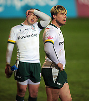Rugby Union - 2020 / 2021 ER Challenge Cup - Quarter-final - Bath vs London Irish - The Recreation Ground<br /> <br /> Ollie Hassell-Collins of London Irish shows his disappointment after Bath's third try<br /> <br /> Credit : COLORSPORT/ANDREW COWIE