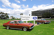 1973 Ford Falcon XB Fairmont GS - Copper Bronze.Ford Australia Head Office,  .Campbellfield, Victoria.20th November 2011.(C) Joel Strickland Photographics.Use information: This image is intended for Editorial use only (e.g. news or commentary, print or electronic). Any commercial or promotional use requires additional clearance.