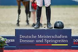 BALVE - Longines Balve Optimum 2021<br /> <br /> Podest, Kappe<br /> Meisterehrung Deutsche Meisterschaft Springreiten<br /> LONGINES OPTIMUM PREIS<br /> Deutsche Meisterschaft Finalwertung Springreiten<br /> Springprüfung Kl. S**** mit 2 Umläufen<br /> <br /> Balve, Reitstadion Schloss Wocklum<br /> 05. June 2021<br /> © www.sportfotos-lafrentz.de/Stefan Lafrentz