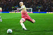 Manchester City defender Angeliño in action  during the EFL Cup match between Preston North End and Manchester City at Deepdale, Preston, England on 24 September 2019.
