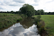 River Medway meandering through the countryside near to Leigh, England, United Kingdom.
