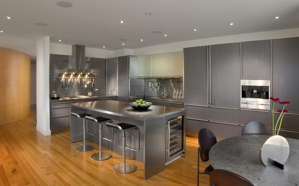 Kitchen Modern loft condo apartment in Washington DC modern Porcelanosa Kitchen