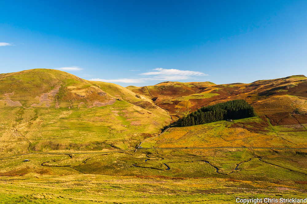 Plenderleith, Jedburgh, Scottish Borders, UK. 10th October 2018. Looking across the Kale Valley on the Scottish side of the Cheviot Hills from Plenderleith Farm.