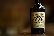 A bottle of the James E Pepper 1776 rye whiskey at the distillery in Lexington, Ky.<br /> <br /> (Photo by William DeShazer)