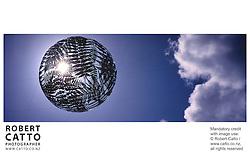 Neil Dawson's Sculpture 'Ferns' (aka the Fern Ball) at Civic Square, Wellington, New Zealand.<br />