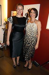 Left to rght, SAMANTHA MORTON and SADIE FROST at Forever Marilyn an exhibition of a art associated with Marilyn Monroe in aid of Save The Children held at Scream, Bruton Street, London on 23rd October 2006.<br /><br />NON EXCLUSIVE - WORLD RIGHTS