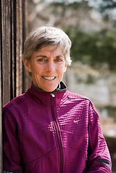 Joan Benoit Samuelson, 1984 Olympic marathon champion, at her home