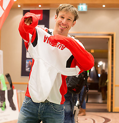 28.01.2014,  Marriott, Wien, AUT, Sochi 2014, Einkleidung OeOC, im Bild Michael Hayböck (Skisprung, AUT) // Michael Hayböck (Skijumping, AUT) during the outfitting of the Austrian National Olympic Committee for Sochi 2014 at the  Marriott in Vienna, Austria on 2014/01/28. EXPA Pictures © 2014, PhotoCredit: EXPA/ JFK
