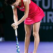 Agnieszka Radwanska of Poland during their TEB BNP Paribas WTA Championships at Sinan Erdem Arena in Istanbul Turkey on Tuesday, 25 October 2011. Photo by TURKPIX