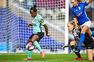 Brighton & Hove Albion defender Danielle Carter (18) during the FA Women's Super League match between Birmingham City Women and Brighton and Hove Albion Women at St Andrews, Birmingham United Kingdom on 12 September 2021.