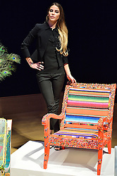 © Licensed to London News Pictures. 29/02/2016.  VICTORIA BAKER-HARBER attends the Bonham's Chair Auction for Chiva African Aids Charity. They etched designed chairs for the auction . London, UK. Photo credit: Ray Tang/LNP