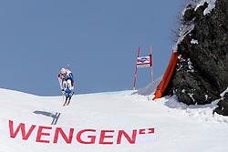 19.01.2013, Lauberhornabfahrt, Wengen, SUI, FIS Weltcup Ski Alpin, Abfahrt, Herren, im Bild Didier Defago (SUI) // in action during mens downhillrace of FIS Ski Alpine World Cup at the Lauberhorn downhill course, Wengen, Switzerland on 2013/01/19. EXPA Pictures © 2013, PhotoCredit: EXPA/ Freshfocus/ Christian Pfander..***** ATTENTION - for AUT, SLO, CRO, SRB, BIH only *****