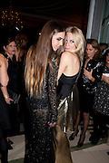 AMBER LEBON; POPPY DELEVIGNE; , Harper's Bazaar Women Of the Year Awards 2011. Claridges. Brook St. London. 8 November 2011. <br /> <br />  , -DO NOT ARCHIVE-© Copyright Photograph by Dafydd Jones. 248 Clapham Rd. London SW9 0PZ. Tel 0207 820 0771. www.dafjones.com.