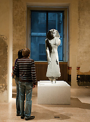 Egyptian statue at Neues Museum of New Museum on Museumsinsel or Museum Island in Berlin