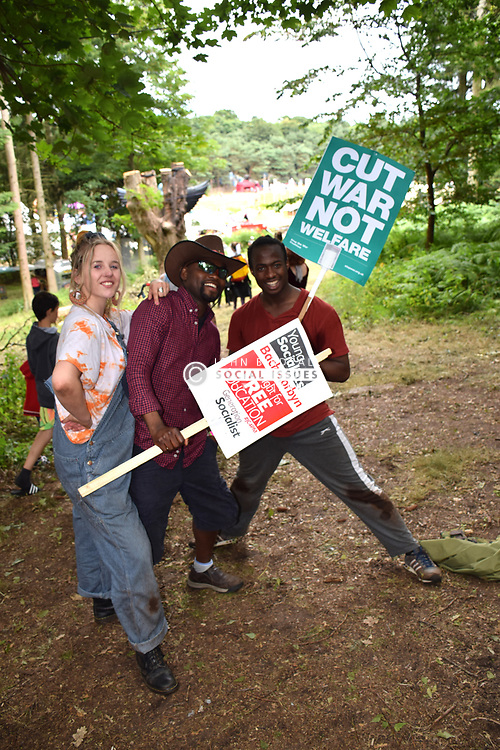 Latitude Festival 2017, Henham Park, Suffolk, UK. SBC Theatre & Leeds Beckett: Stand and be Counted - in the Clearing, Faraway Forest