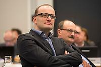 """26 MAR 2012, BERLIN/GERMANY:<br /> Jens Spahn, MdB, CDU, Kongress der CDU/CSU-Bundestagsfraktion """"Krisen vorbeugen - Finanzaufsicht staerken"""", Sitzungssaal CDU/CSU-Bundestagsfraktion, Deutscher Bundestag<br /> IMAGE: 20120326-01-015"""