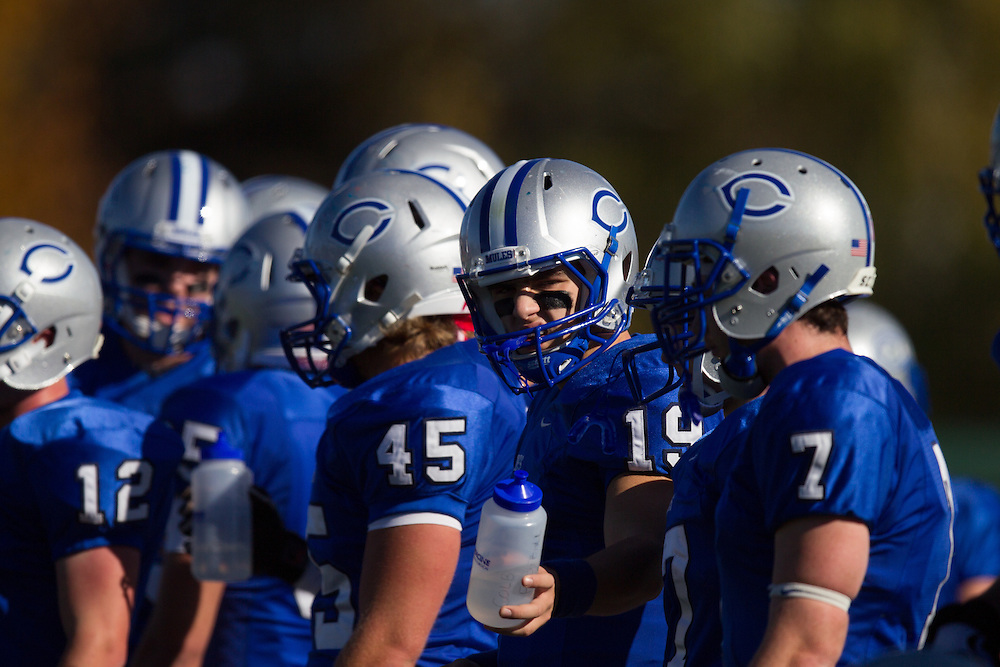 Joseph Anile, of Colby College, before the start of a NCAA Division III football game on November 2, 2013 in Waterville, ME. (Dustin Satloff/Colby College Athletics)