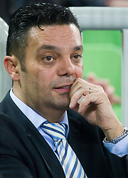 Goran Dujic, director of RK Krim during  handball match between RK Krim Mercator and CS Oltchim RM Valcea (ROU) of Women's EHF Champions League 2011/2012, on February 4, 2012 in Arena Stozice, Ljubljana, Slovenia. Valcea defeated Krim 31-25. (Photo By Vid Ponikvar / Sportida.com)