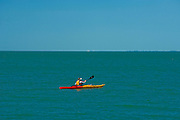 Kayak on Lake Erie<br /> Point Pelee National Park<br /> Ontario<br /> Canada
