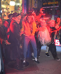 Heidi Klum dressed as Michael Jackson's Thriller Werewolf for her annual Halloween party. 31 Oct 2017 Pictured: Heidi Klum. Photo credit: STB / MEGA TheMegaAgency.com +1 888 505 6342