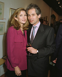 MR & MRS SIMONE ORTIZ-PATINO at an exhibition in London on April 15th 1997.LXP 39