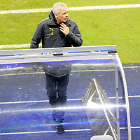 21.11.2020, OLympiastadion, Berlin, GER, DFL, 1.FBL, Hertha BSC VS. Borussia Dortmund, <br /> DFL  regulations prohibit any use of photographs as image sequences and/or quasi-video<br /> im Bild Cheftrainer Lucien Favre (Borussia Dortmund)<br /> <br />       <br /> Foto © nordphoto / Engler