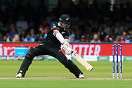 Mitchell Santner of New Zealand batting during the ICC Cricket World Cup 2019 Final match between New Zealand and England at Lord's Cricket Ground, St John's Wood, United Kingdom on 14 July 2019.